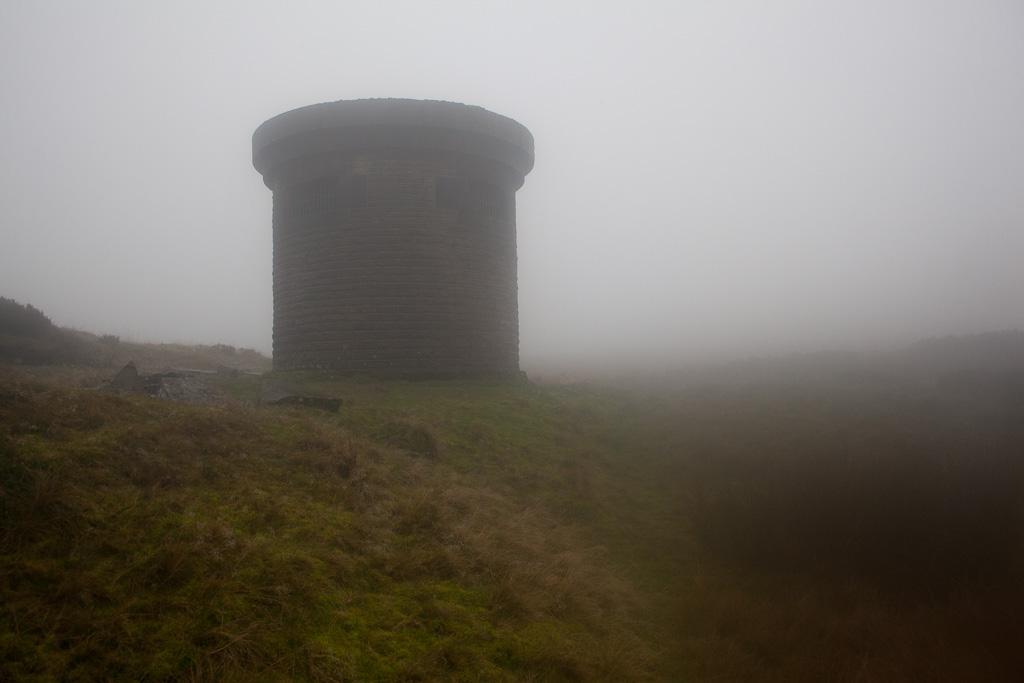 Ventilation shaft in fog