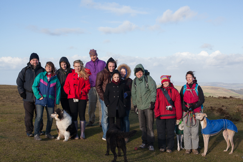 Group shot on top of Moel Famau