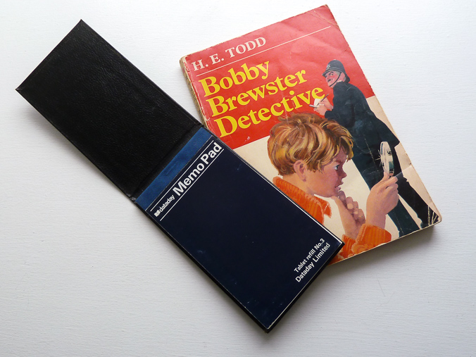 Notebook and Bobby Brewster book