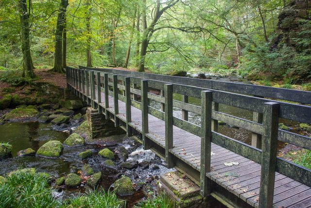 Footbridge over Hebden Water, Hardcastle Crags