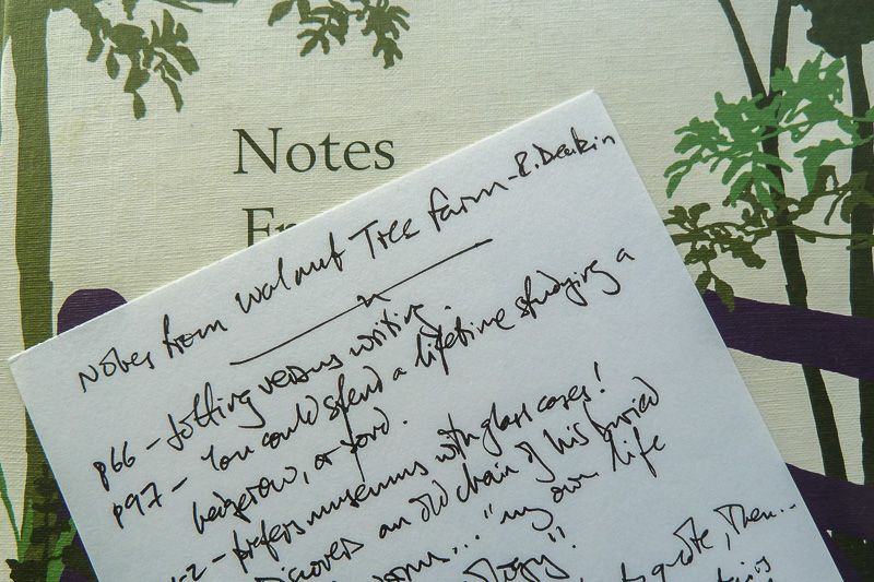 Notes on Notes From Walnut Tree Farm