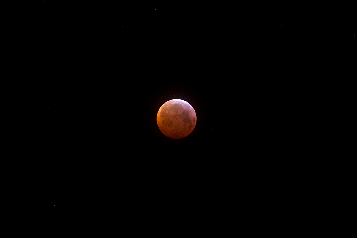 Eclipsed moon