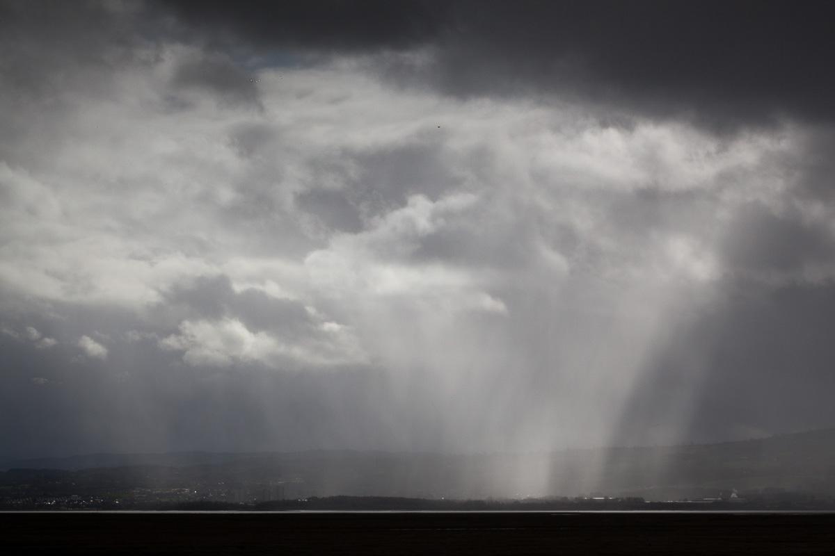 Rain over Wales