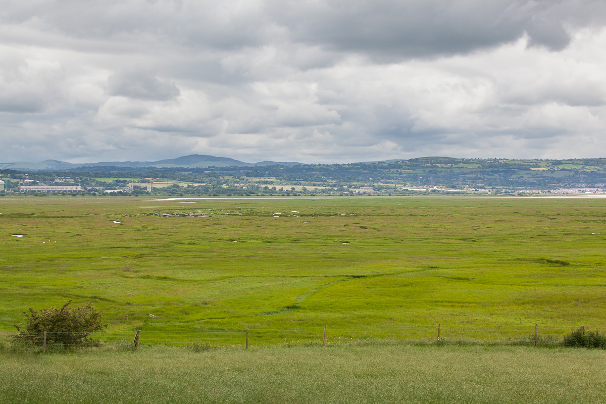 Moel Famau and the Dee Marshes from Burton Point