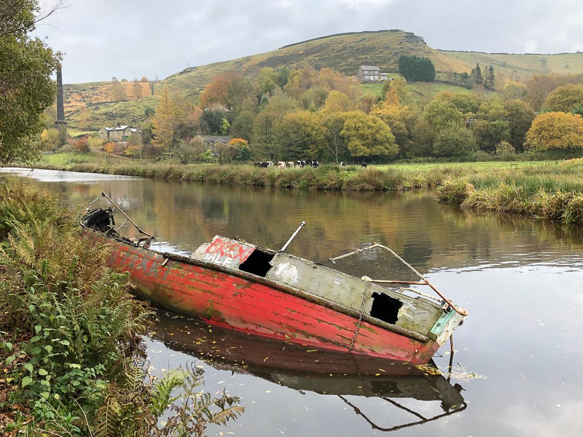 Brexit Boat, Rochdale Canal