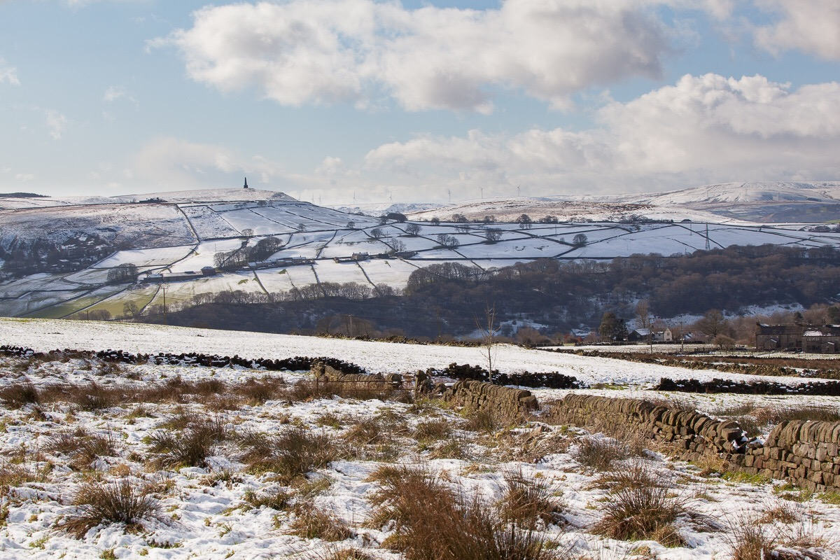 Snow in the upper Calder Valley