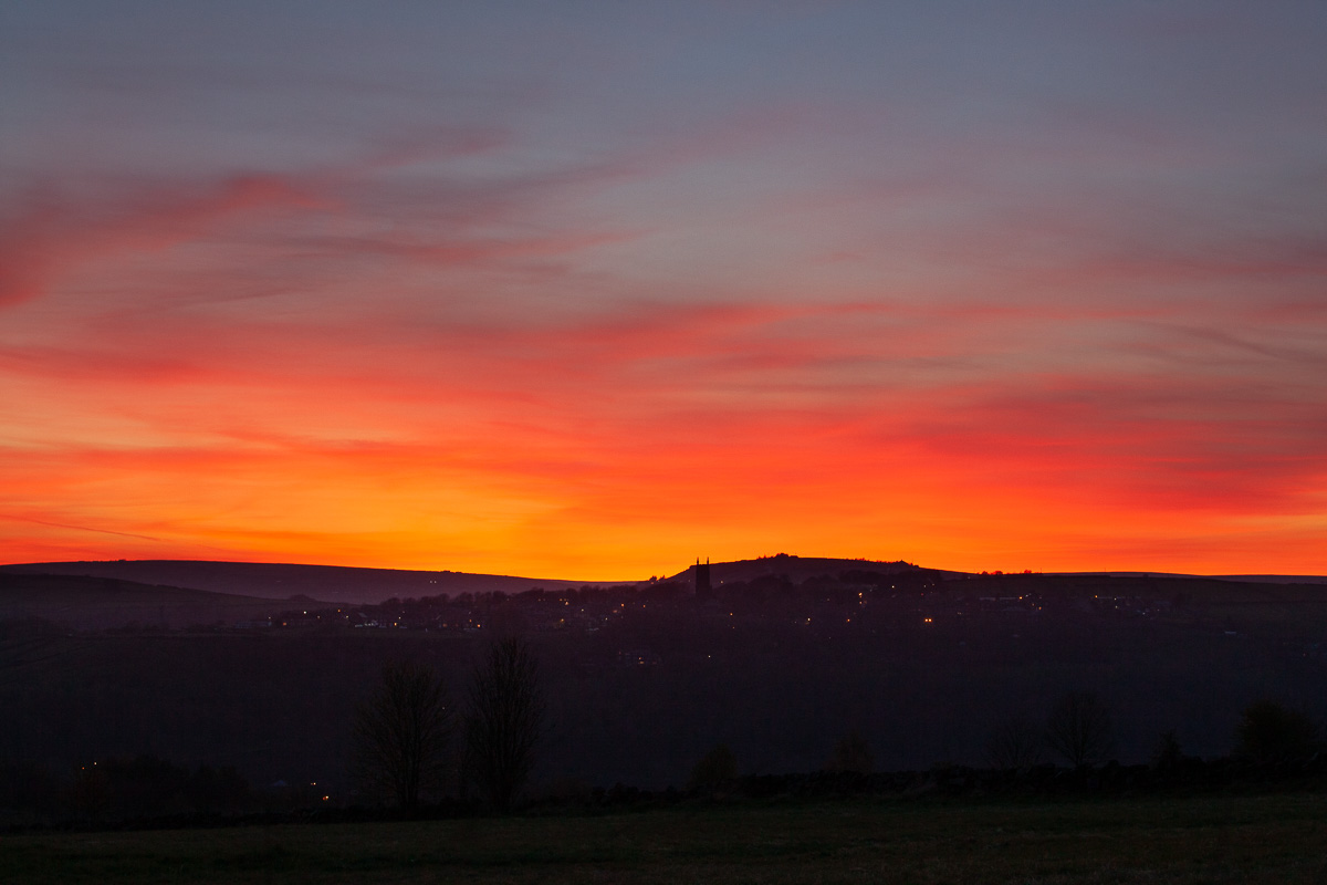 Sunset behind Heptonstall