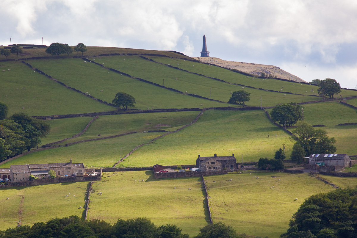 Stoodley Pike Monument from the Carr track