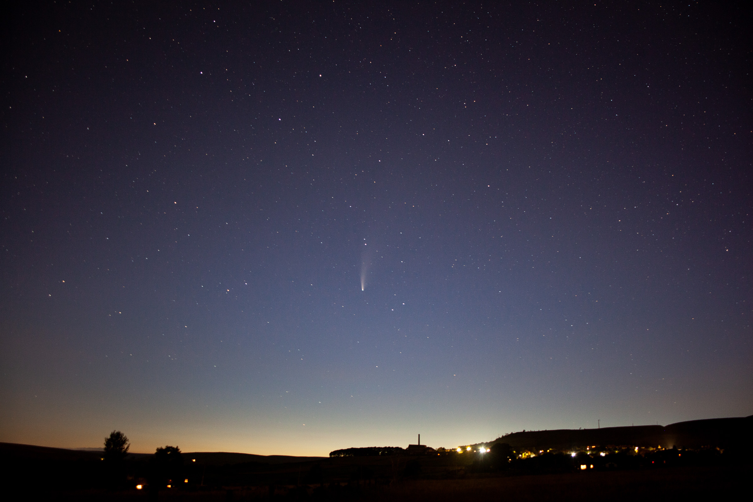 Comet Neowise over Old Town Mill, Hebden Bridge