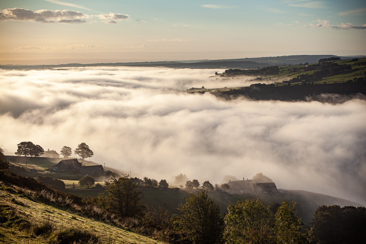 Cloud-sea, upper Calder Valley